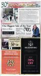"""""""Sidewalk Sale"""", page D1"""