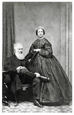 Portrait of Samuel Bealey Harrison and Mrs. Samuel Bealey Harrison.