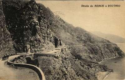 Strada da Amalfi a positano