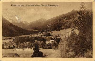Oberammergau: Benediktiner-Kloster Ettal mit Graswantal.