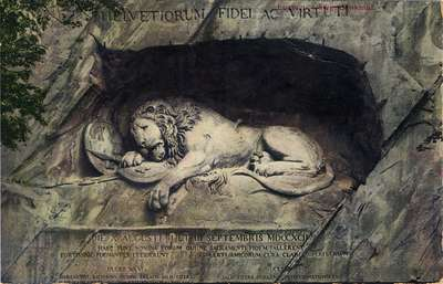 Luzern. Lowendenkmal. [The Lion of Lucerne, Switzerland]