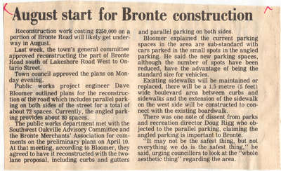 August start for Bronte construction