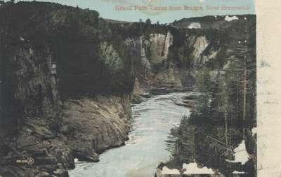 Grand Falls Canon [i.e. Canyon] from Bridge, New Brunswick