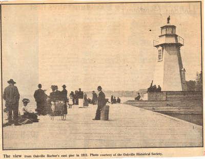 Oakville Harbor's east pier