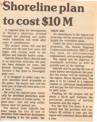 Shoreline plan to cost $10M