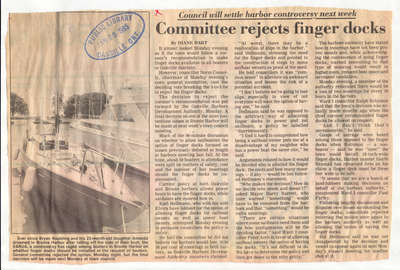 Committee rejects finger docks