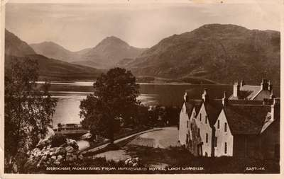 Arrochar Mountains from Inversnaid Hotel, Loch Lomond