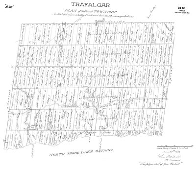 Map of Trafalgar Township 1806