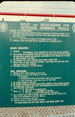 Scarborough Pool Rules