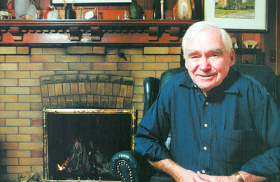 Bill Cudmore relaxing in his home at age 75