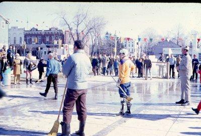 Broom Hockey at Centenial Square
