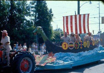Viking float at the Centennial parade