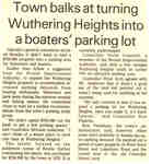 Town balks at turning Wuthering Heights into a boater's parking lot