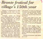 Bronte festival for village's 150th year
