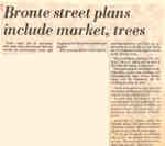 Bronte street plans include market, trees