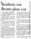 Residents win Bronte Plaza war