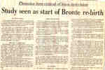 Study seen as start of Bronte re-birth