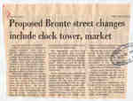 Proposed Bronte street changes include clock tower, market