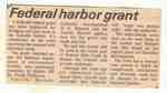 Federal harbor grant