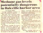 Methane gas levels potentially dangerous in Oakville harbor area