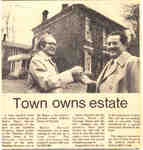 Town owns estate