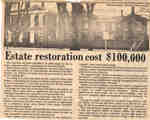 Estate restoration cost $100,000