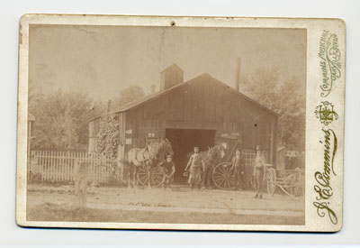 MacDonald's Blacksmith Shop. Courtesy of the Oakville Historical Society