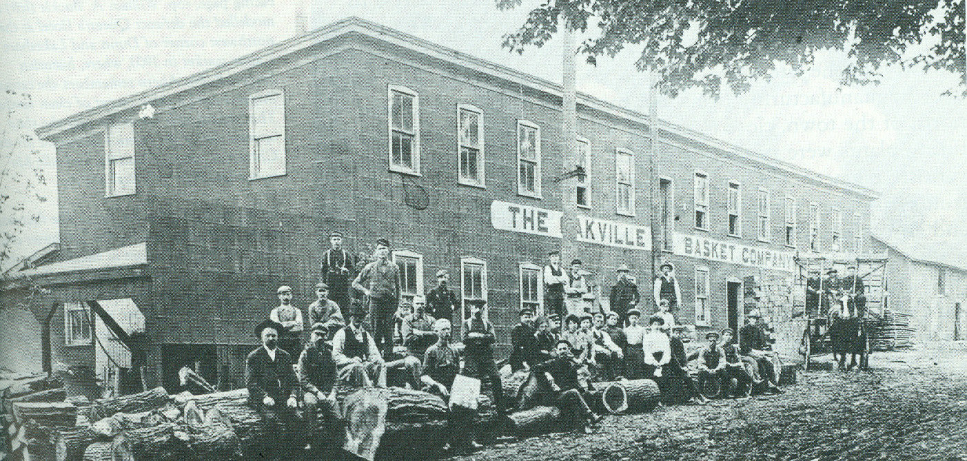 The Oakville Basket Factory. Courtesy of the Oakville Historical Society