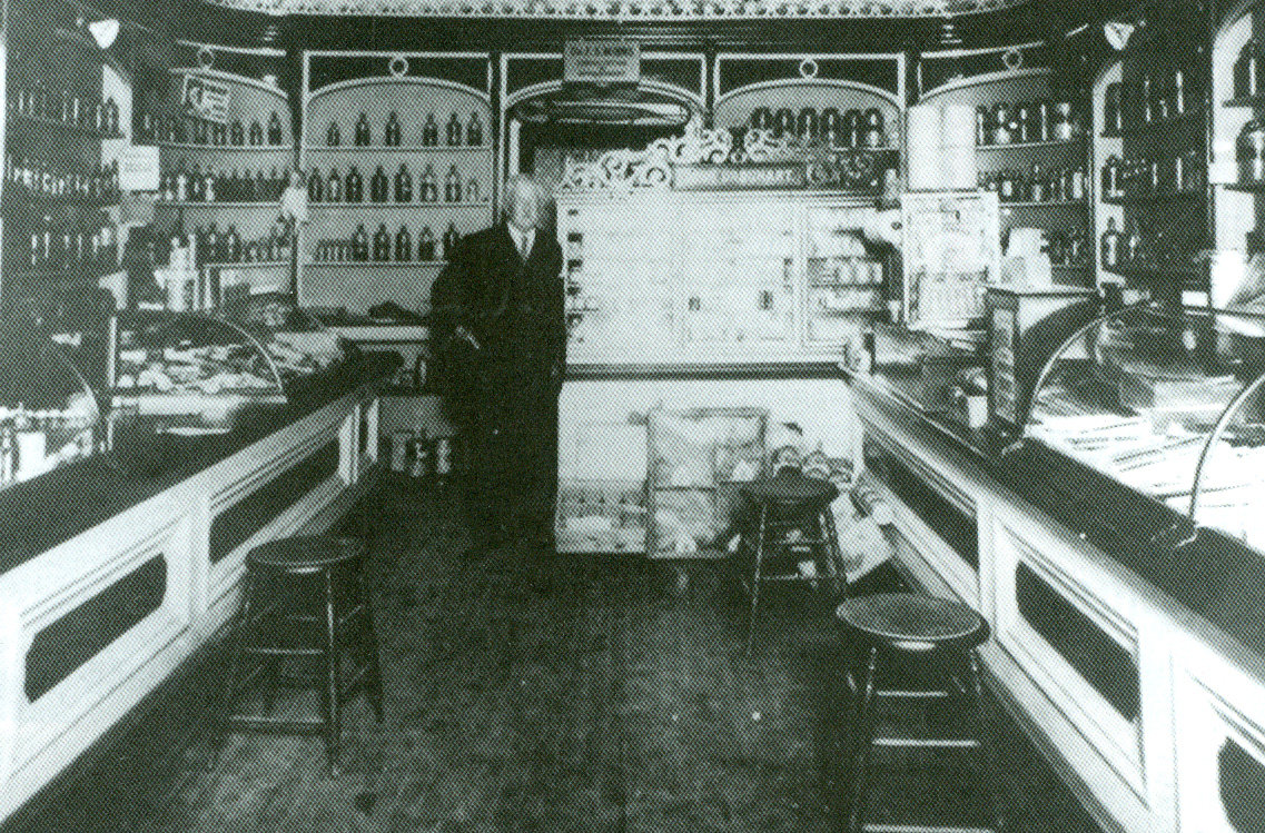 Interior of Urquhart's Medical Hall