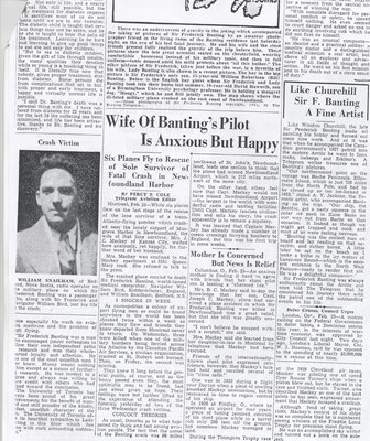 Media Coverage of Frederick Banting's Death 4