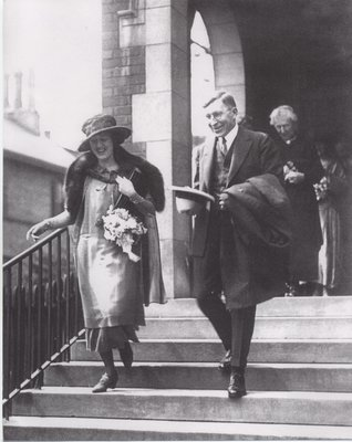 Marian Robertson Banting and Sir Frederick Banting On Their Wedding Day