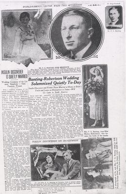 Wedding of Frederick and Marian Banting 2