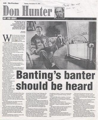 Banting's Banter