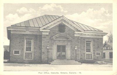 Postcard of Old Oakville Post Office