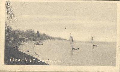 Postcard of Beach at Oakville, Ontario, Canada