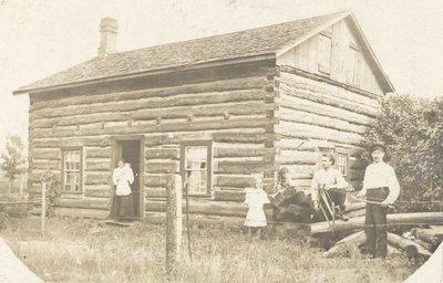 Postcard of Ward Log House