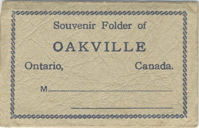 Cover of Souvenir Folder of Oakville