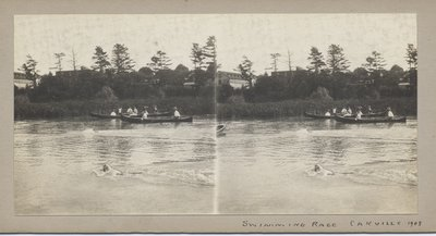 Swimming race, Oakville 1908
