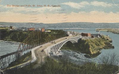 The Bridge and Falls, St. John, N.B., Canada