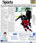 Three-time Olympian brings girls' hockey school to town