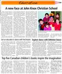 A new face at John Knox Christian School