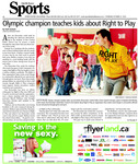 Olympic champion Teaches Kids About Right to Play