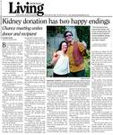 Kidney donation has two happy endings
