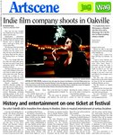 Indie film company shoots in Oakville