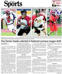 Five former Hawks selected in National Lacrosse League draft