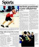 Red Devils ground Hawks in junior volleyball final