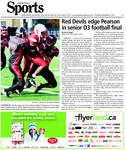 Red Devils edge Pearson in senior D3 football final