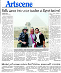 Belly dance instructor teaches at Egypt festival