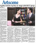 Agatha Christie mystery on stage with WEST group