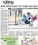 Blades declaw Cougars, off to league semis again